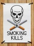 Изображение черепа и пересеченных сигарет Стоковая Фотография RF