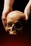 изображение черноты предпосылки 3d людское представило череп Влияние пирофакела Стоковая Фотография RF