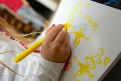 Изображение чертежа ребенка/девушки на День матери Стоковая Фотография