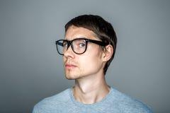 Изображение человека с стеклами Стоковое Фото