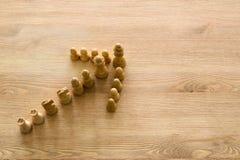 Изображение шахмат Дело, конкуренция, стратегия, руководство и концепция успеха Стоковая Фотография RF