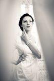 Изображение элегантной красивой молодой дамы в белизне Стоковая Фотография RF