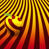 Изображение яблока на striped абстрактной предпосылке 10 eps Стоковое Изображение