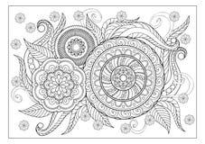 Изображение для взрослой страницы расцветки Стоковая Фотография