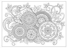 Изображение для взрослой страницы расцветки Стоковое фото RF