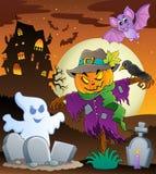Изображение 3 темы чучела Halloween бесплатная иллюстрация