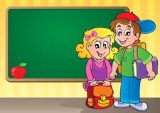 Изображение 3 темы Schoolboard Стоковая Фотография RF