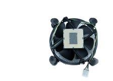 Изображение C.P.U. и охлаждающего вентилятора с heatsink на белом backgroun Стоковое Изображение