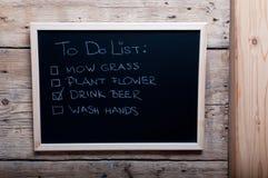 Изображение Chalkboard с для того чтобы сделать список Стоковая Фотография