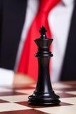 Изображение Close-up черного короля шахмат Стоковые Фото