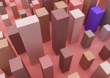 Изображение 3d о infographic и деле и здании иллюстрация вектора