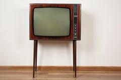 изображение 3d представило ретро tv белым Стоковое фото RF