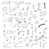изображение doodle конструкции предпосылки стрелок безшовное Стоковое Изображение RF