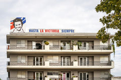 Изображение Ernesto Че Гевара на стене дома в Сантьяго-де-Куба Стоковая Фотография RF