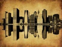 Изображение Grunge горизонта New York Стоковые Изображения RF