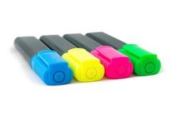 Изображение highlighters цвета, повернутая половина Стоковые Изображения RF