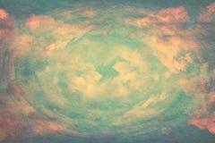 изображение patel abstarct заволакивает и небо с текстурой Стоковое Изображение RF