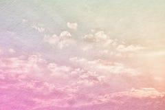 изображение patel abstarct заволакивает и небо с текстурой Стоковое фото RF