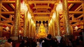 Изображение Phra Phuttha Chinnarat Будды на виске Wat Phra Si Rattana Mahathat в Phitsanulok, Таиланде Стоковое Фото