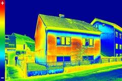 Изображение Thermovision на доме Стоковая Фотография RF