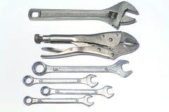 Изображение wrenchon инструмента белая предпосылка Стоковые Изображения
