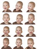 12 изображений ребенка Стоковые Изображения RF