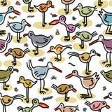 Изображения безшовной картины состоя из птиц Стоковое Фото