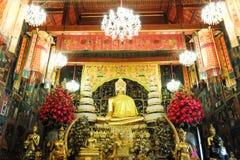 Изображения Будды в старом тайском виске Стоковая Фотография RF