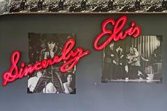 Изображения и название о Elvis в Мемфисе Стоковая Фотография RF