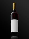 изображения иллюстрации бутылки 3d вино разрешения высокого красное Стоковое фото RF