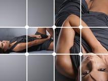 изображения коллажа 2 детеныша женщины Стоковое Изображение RF