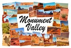Изображения коллажа долины памятника, Аризоны, США Стоковые Фотографии RF