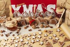изображения находки печений рождества смотрят больше моего портфолио такая же серия к Винтажный stile Украшения рождества - письм Стоковое фото RF