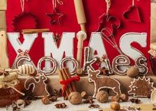 изображения находки печений рождества смотрят больше моего портфолио такая же серия к Винтажный stile Украшения рождества - письм Стоковая Фотография
