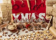 изображения находки печений рождества смотрят больше моего портфолио такая же серия к Винтажный stile Украшения рождества - письм Стоковое Изображение RF