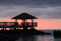 Изображения образа жизни курорта и курорта залива Westin Turtal в Маврикии Стоковые Изображения RF