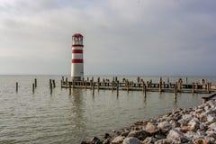Изображения осени озера Neusiedler видят стоковая фотография