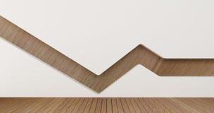 Изображения перевода стены 3d дизайна интерьера Стоковое Изображение