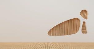 Изображения перевода стены 3d дизайна интерьера Стоковое Изображение RF