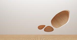 Изображения перевода стены 3d дизайна интерьера Стоковые Фото