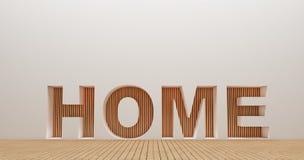 Изображения перевода стены 3d дизайна интерьера Стоковое Фото