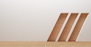 Изображения перевода стены 3d дизайна интерьера Стоковые Фотографии RF