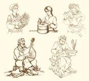 Изображения старых женщин и людей для их классов иллюстрация вектора