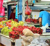 Изображения улицы рынка farmenrs пива-Sheva стоковая фотография rf