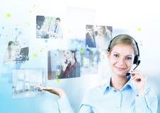 изображения центра телефонного обслуживания предпосылки 3d изолировали белизну Стоковая Фотография