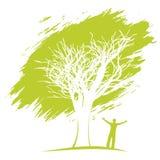изображения экологичности принципиальной схемы еще многие мое портфолио Человек под деревом Стоковые Фотографии RF