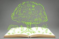 изображения экологичности принципиальной схемы еще многие мое портфолио Стоковое Изображение