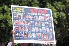 Изображения людей убитых полицией Стоковые Фотографии RF
