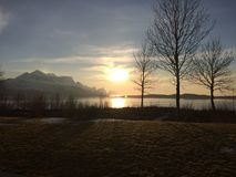 Изобразите принятый на наше свойство на Inndyr в севере Норвегии стоковое фото