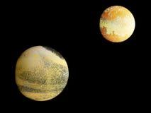 Изобретенные планеты, planetoids Стоковое Изображение RF